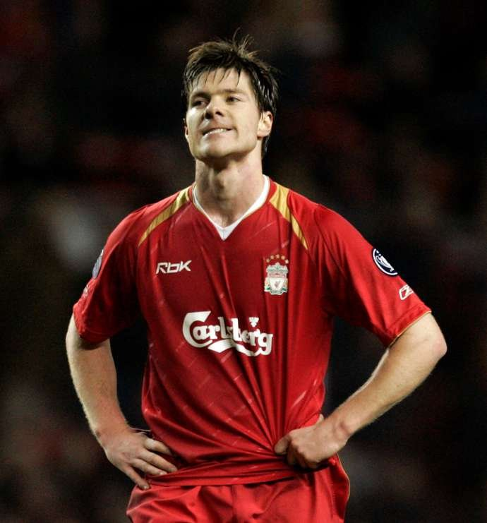 Xabi Alonso in action for Liverpool