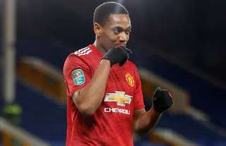 Anthony Martial in action for Man United