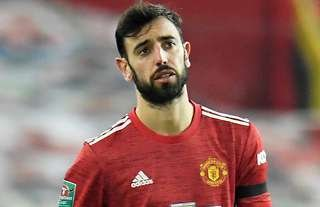Bruno Fernandes in action for Man United