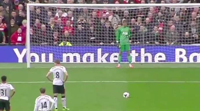 Gerrard takes a penalty