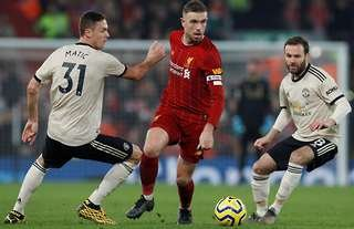 Liverpool's Henderson during a Premier League win over Man Utd.
