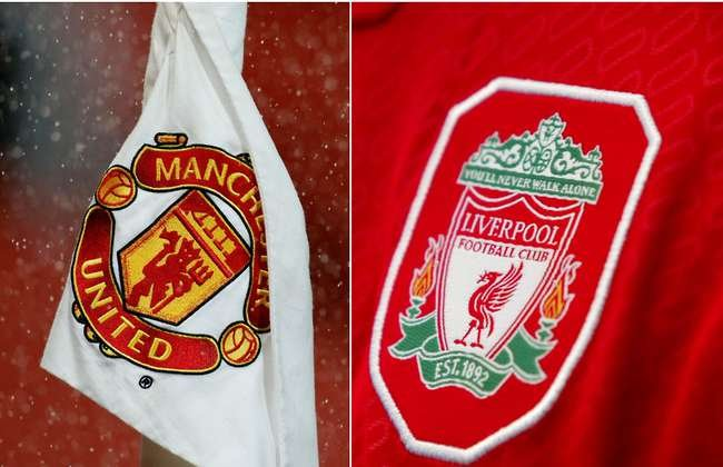 Liverpool vs Man United - badges