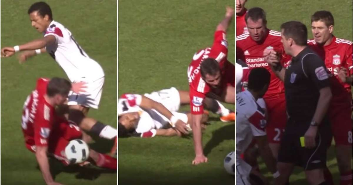 Steven Gerrard lost it with Nani for crying after Jamie Carragher's infamous tackle
