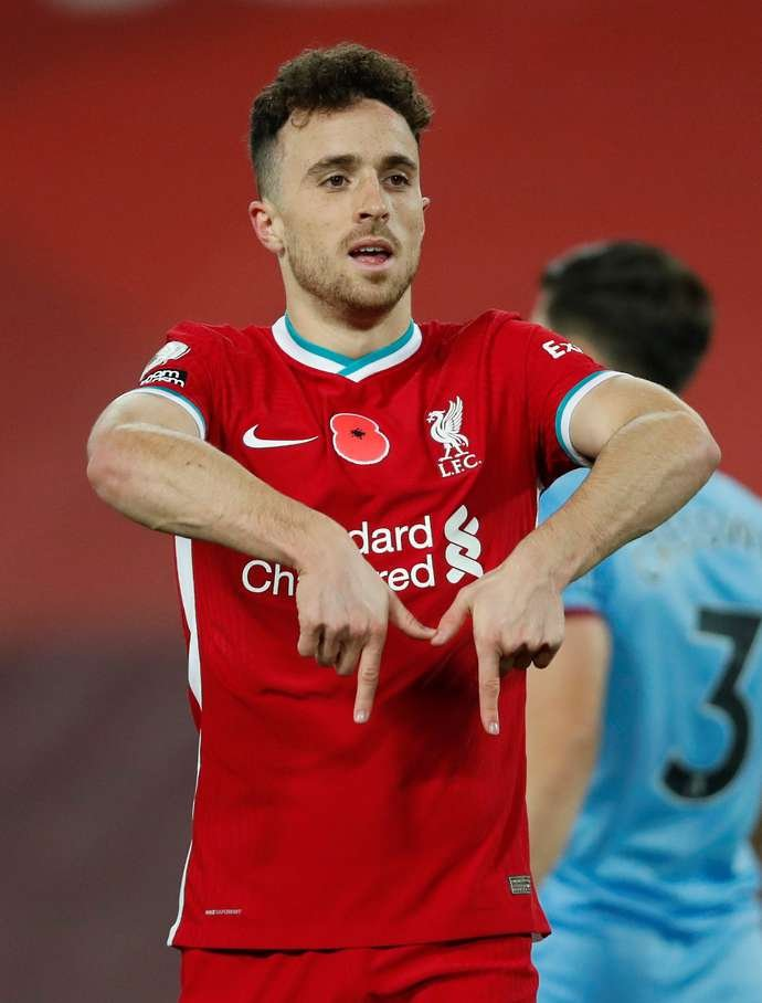 Diogo Jota in action for Liverpool