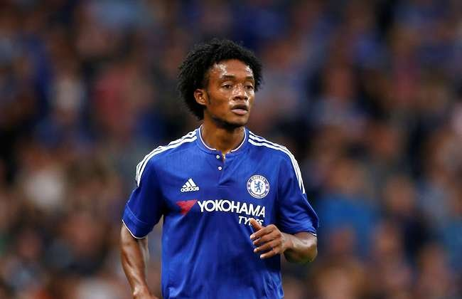 Juan Cuadrado in action for Chelsea
