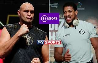 Tyson Fury and Anthony Joshua have exclusive broadcast deals with BT and Sky respectively