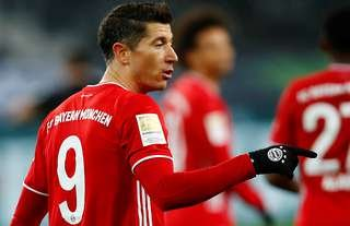 Bayern's Lewandowski was voted the best player of 2020.