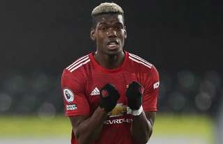 Paul Pogba in action for Man United vs Fulham