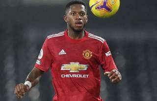 Man Utd's Fred during the 2-1 win away to Fulham.