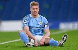 Kevin De Bruyne in action for Man City
