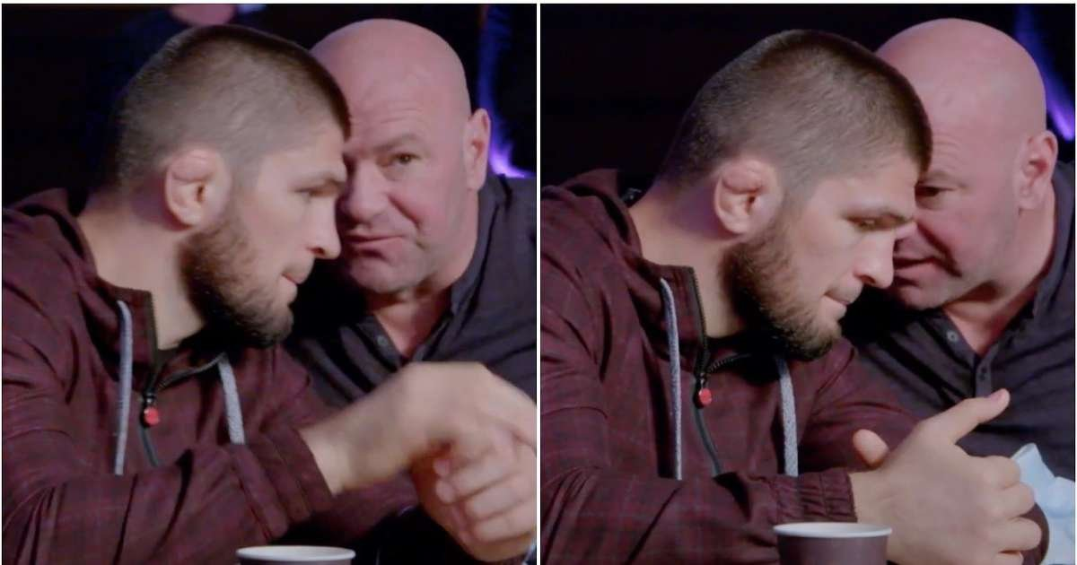 Dana White has been caught on camera trying to convince Khabib to take McGregor rematch
