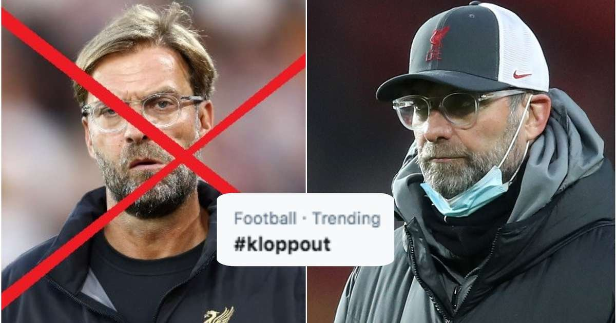 Liverpool: #KloppOut trends after Man United defeat while fan calls for Jurgen Klopp to go - GIVEMESPORT