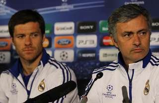 Xabi Alonso and Jose Mourinho at Real Madrid
