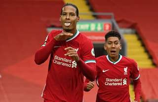 Virgil van Dijk in action for Liverpool