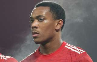 Anthony Martial in action for Man Utd