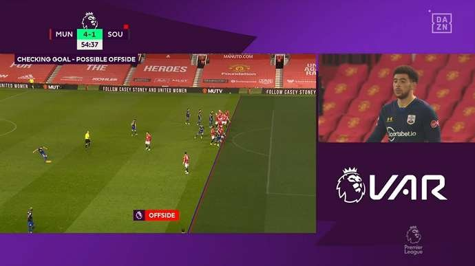 Man United vs Southampton: VAR controversially disallows Che Adams' goal |  GiveMeSport