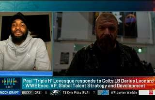 Triple H has called out an NFL linebacker to partner up in WWE