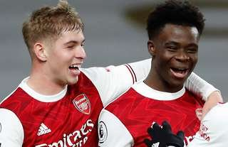 Emile Smith-Rowe and Bukayo Saka at Arsenal