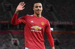 Mason Greenwood in action for Man United