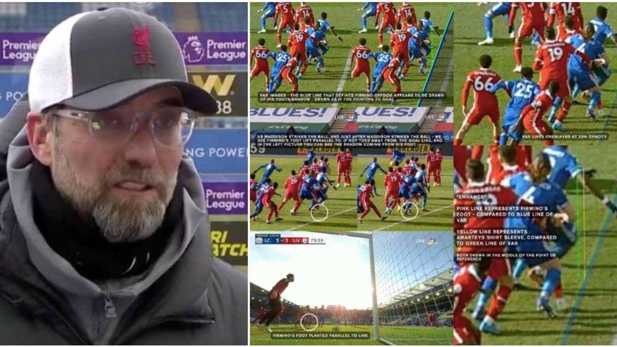 Liverpool Analysis Claims Leicester Equaliser Was Offside Despite Var Ruling Givemesport
