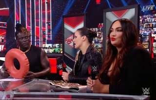 Jax was not impressed during an appearance on WWE RAW Talk