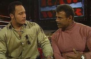WWE icon The Rock shares a special moment with his father Rocky Johnson