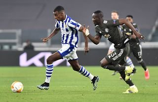 Eric Bailly in action for Man United vs Real Sociedad