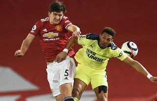 Harry Maguire in action for Man Utd vs Newcastle
