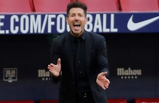 Diego Simeone during Atletico vs Chelsea