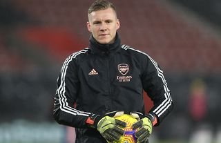 Bernd Leno in action for Arsenal