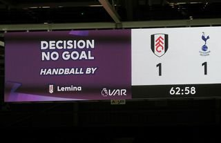 Fulham had a goal ruled out against Spurs