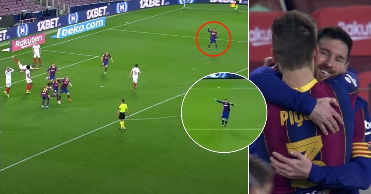 Lionel Messi's reaction to Gerard Pique's equaliser says everything you need to know
