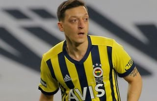 Mesut Ozil in action for Fenerbahce