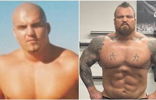 Eddie Hall shares throwback picture of himself aged 16 - no seriously, he's 16