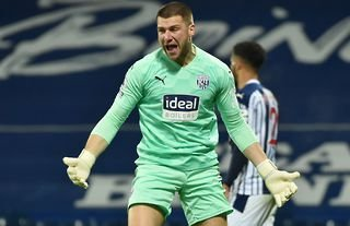 West Brom goalkeeper Sam Johnstone