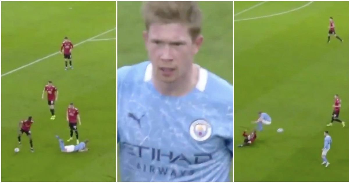 Kevin De Bruyne has been savaged with video of his 'highlights' during Man Utd defeat