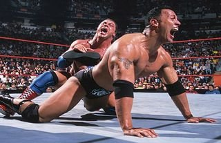 Angle and The Rock clashed in WWE many times
