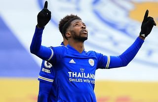 Kelechi Iheanacho in action for Leicester