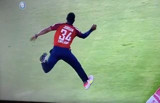 Jason Roy had a sensational reaction to Chris Jordan's mesmerising catch vs India