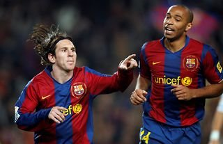Lionel Messi & Thierry Henry were teammates at Barcelona