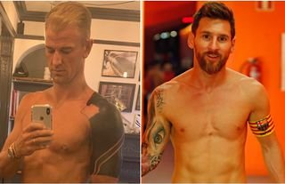 Footballers with unusual tattoos including Messi, Neymar & Ramos