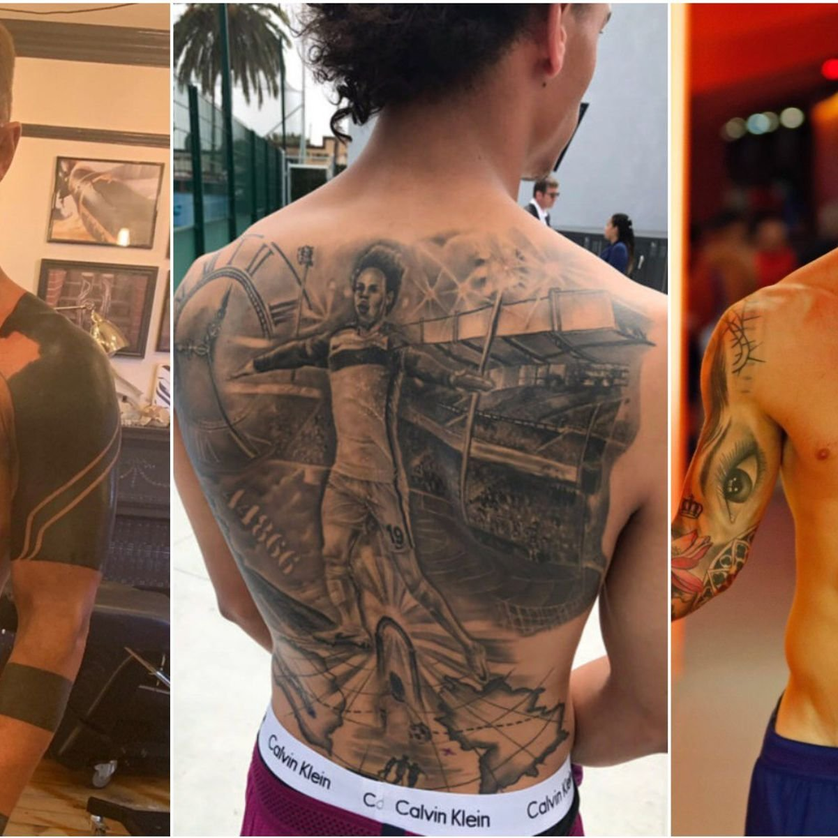 Footballers With Unusual Tattoos Including Messi Neymar Ramos Givemesport
