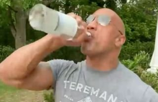 WWE icon The Rock proved he's made of strong stuff by downing half a bottle of tequila