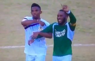 Samuel Eto'o and Jay-Jay Okocha played against each other in 2016