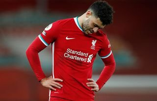 Liverpool's Oxlade-Chamberlain in a Premier League defeat.
