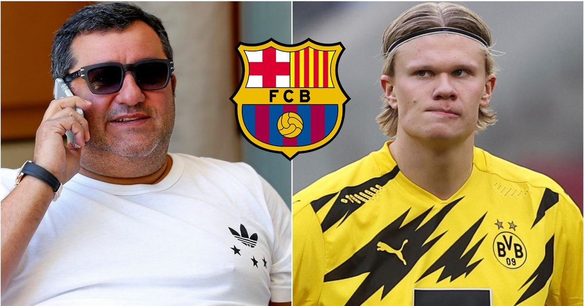 Erling Haaland: There are huge demands from father and Mina Raiola towards Barcelona
