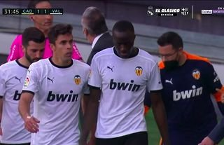 Mouctar Diakhaby was allegedly racially abused by Juan Cala
