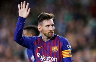 Lionel Messi scored a hat-trick in a 4-1 win over Real Betis in 2019
