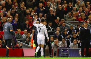 Cristiano Ronaldo was applauded off the pitch by Liverpool fans