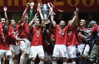 Rio Ferdinand with Champions League trophy